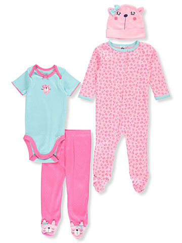 Gerber Baby Girls' 4-Piece Layette Set - CookiesKids.com