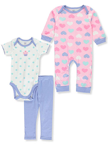 Gerber Baby Girls' 3-Piece Layette Set - CookiesKids.com