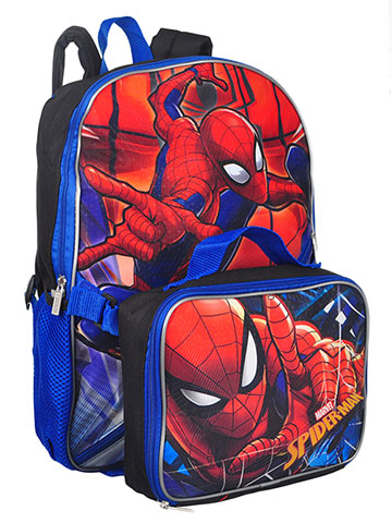 Spider-Man Backpack with Insulated Lunchbox - CookiesKids.com