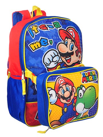 Super Mario Backpack with Insulated Lunchbox - CookiesKids.com