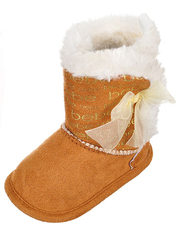 Bebe Baby Girls' Plush Booties - CookiesKids.com
