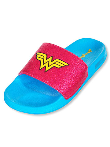 Wonder Woman Girls' Slide Sandals (Sizes 13 – 5) - CookiesKids.com