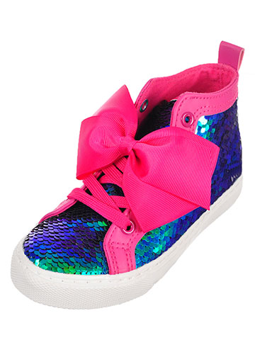 Jojo Siwa Girls' Hi-Top Sneakers (Sizes 11 – 4) - CookiesKids.com