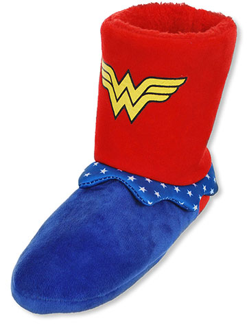 Wonder Woman Girls' Hi-Top Slippers (Youth Sizes S – XL) - CookiesKids.com