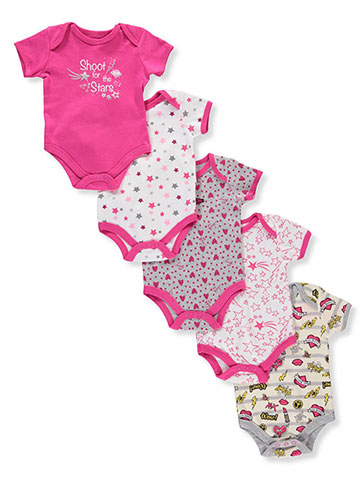 Betsey Johnson Baby Girls' 5-Pack Bodysuits - CookiesKids.com