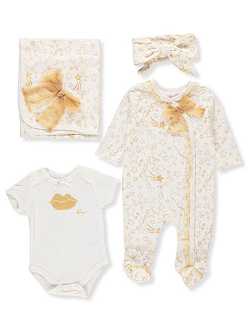 Betsey Johnson Baby Girls' 4-Piece Layette Set - CookiesKids.com