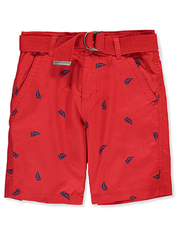 Galaxy by Harvic Boys' Belted Twill Shorts - CookiesKids.com