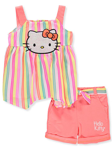 Hello Kitty Girls' 2-Piece Short Set Outfit - CookiesKids.com