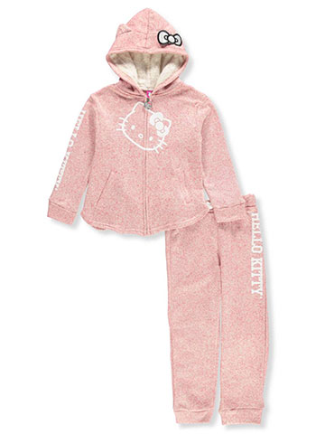 Hello Kitty Girls' 2-Piece Sweatsuit Pants Set - CookiesKids.com