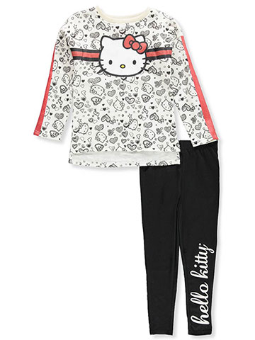 Hello Kitty Girls' 2-Piece Leggings Set Outfit - CookiesKids.com