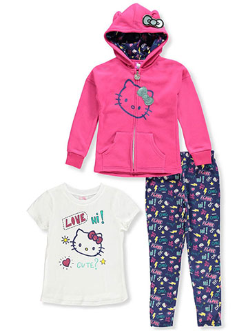 Hello Kitty Girls' 3-Piece Leggings Set Outfit - CookiesKids.com