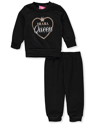 Girls Luv Pink Baby Girls' 2-Piece Sweatsuit Pants Set - CookiesKids.com
