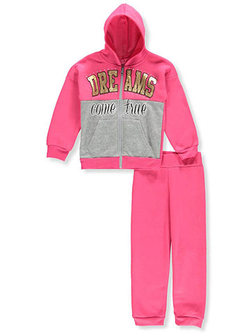 Girls Luv Pink Girls' 2-Piece Sweatsuit Pants Set - CookiesKids.com