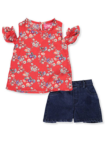 Girls Luv Pink Baby Girls' 2-Piece Shorts Set Outfit - CookiesKids.com
