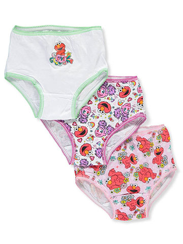 Sesame Street Girls' 3-Pack Panties - CookiesKids.com