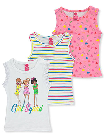 Pink Dot Girls' 3-Pack Tank Tops - CookiesKids.com