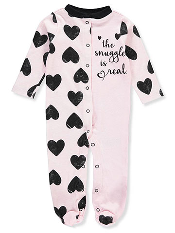 Mini B. Baby Girls' Footed Coverall - CookiesKids.com