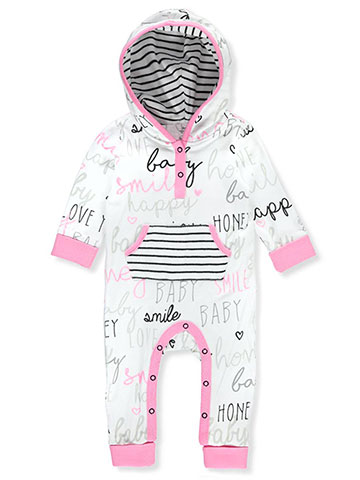 Boppy Baby Girls' Hooded Coverall - CookiesKids.com