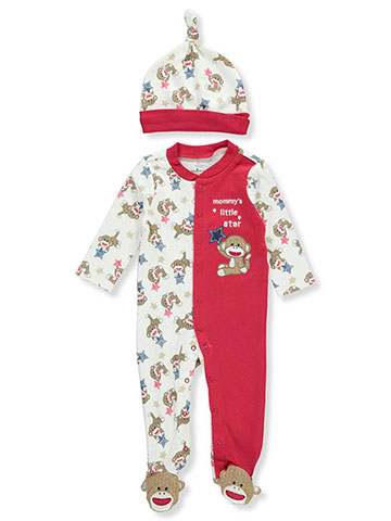 Baby Starters Baby Boys' Footed Coverall with Hat - CookiesKids.com