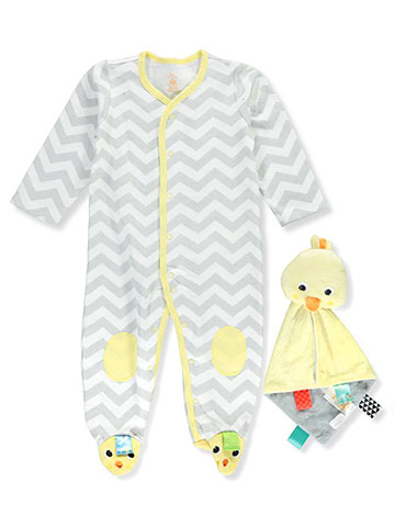 Bright Starts Unisex Baby Footed Coverall with Taggies™ Rattle - CookiesKids.com