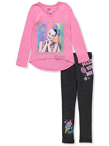 Jojo Siwa Girls' 2-Piece Pants Set Outfit - CookiesKids.com