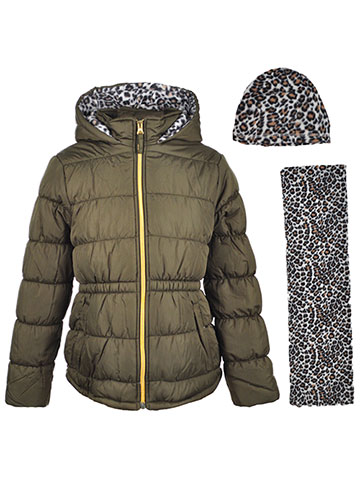 Pink Platinum Girls' Insulated Jacket with Accessories - CookiesKids.com