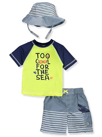 Wippette Baby Boys' 2-Piece Swim Set with Hat - CookiesKids.com