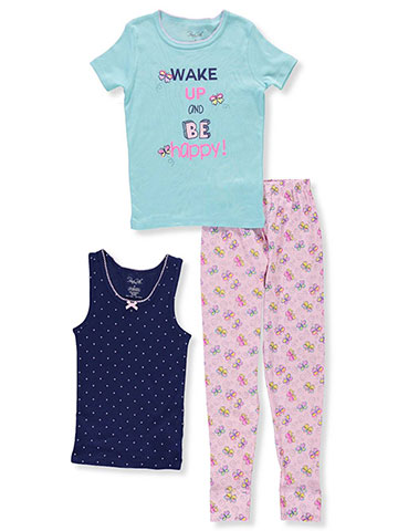 Rene Rofe Girls' 3-Piece Mix-and-Match Sleepwear Set - CookiesKids.com