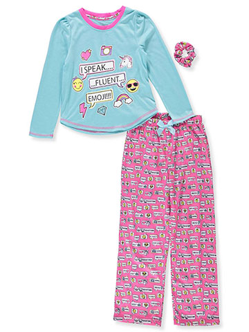 Rene Rofe Girls  2-Piece Pajama Set with Scrunchie - CookiesKids.com 5a83e7a6d
