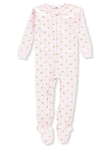 Just Born Baby Girls' 1-Piece Footed Pajamas - CookiesKids.com