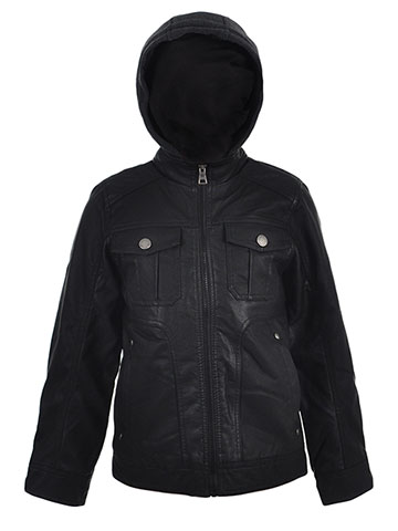 Urban Republic Boys' Faux Leather Jacket - CookiesKids.com