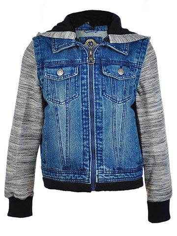 Urban Republic Boys' Hooded Denim Jacket - CookiesKids.com