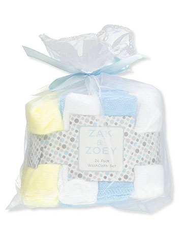 Zak & Zoey 24-Pack Terry Washcloths - CookiesKids.com