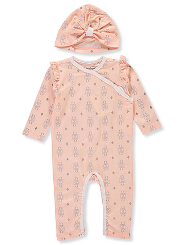 Jessica Simpson Baby Girls' Coverall with Cap - CookiesKids.com