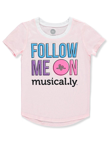 Musical.ly Girls' T-Shirt - CookiesKids.com