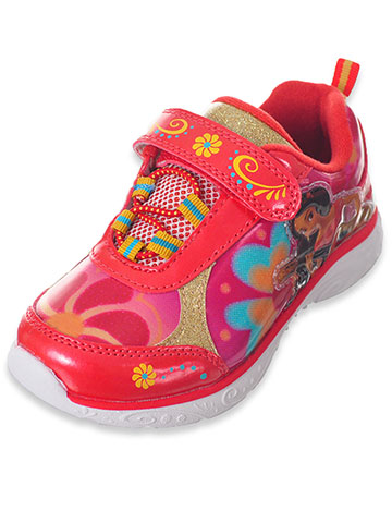 Disney Elena of Avalor Girls' Light-Up Sneakers (Sizes 6 – 12) - CookiesKids.com