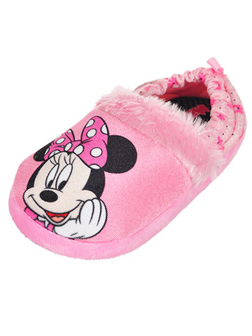 Disney Minnie Mouse Girls' Slippers (Sizes 7 – 12) - CookiesKids.com