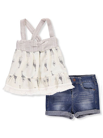 Jessica Simpson Baby Girls' 2-Piece Short Set Outfit - CookiesKids.com