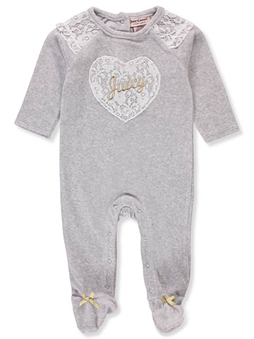 Juicy Couture Baby Girls' Footed Coverall - CookiesKids.com