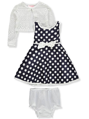 Youngland Baby Girls' 2-Piece Dress Set Outfit with Diaper Cover - CookiesKids.com