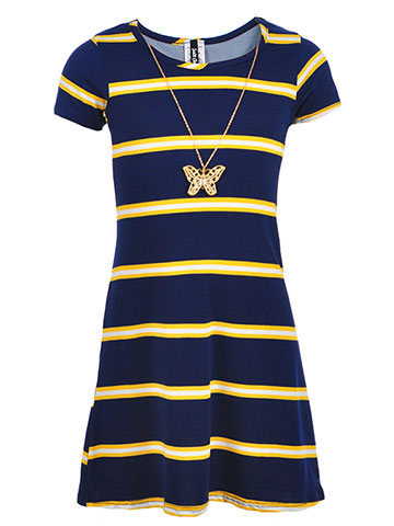 Insta Girl Girls' Dress with Necklace - CookiesKids.com