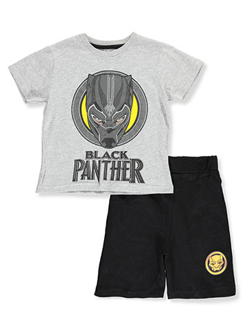 Black Panther Boys' 2-Piece Shorts Set Outfit - CookiesKids.com