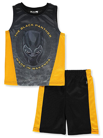 Marvel Black Panther Boys' 2-Piece Shorts Set Outfit - CookiesKids.com
