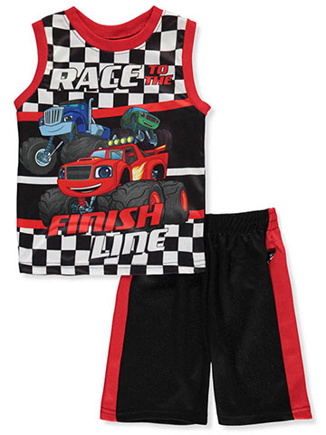 Blaze and the Monster Machines Boys' 2-Piece Shorts Set Outfit - CookiesKids.com