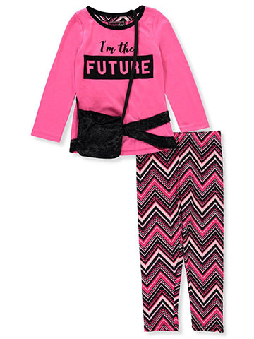 Dream Star Girls' 2-Piece Leggings Set Outfit with Purse - CookiesKids.com