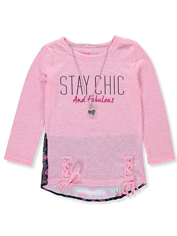 Dream Star Girls' L/S Top with Necklace - CookiesKids.com