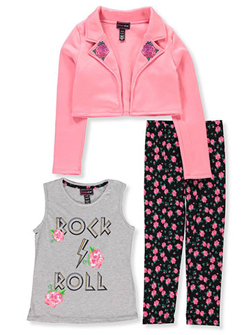Dream Star Girls' 3-Piece Leggings Set Outfit - CookiesKids.com