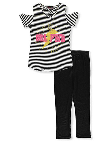 Dream Star Girls' 2-Piece Leggings Set Outfit with Necklace - CookiesKids.com
