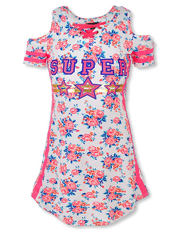 Dream Star Girls' Cold Shoulder Dress - CookiesKids.com