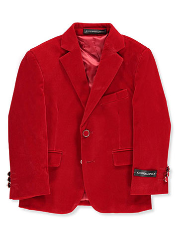 Kids World Boys' Velvet Blazer - CookiesKids.com